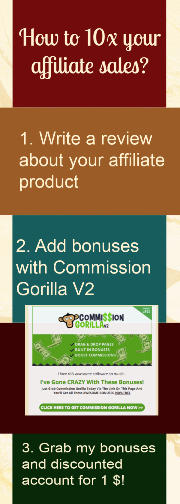 How to 10x your affiliate sales with Commission Gorilla V2