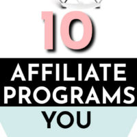 10 Best Affiliate Programs